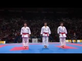 male team kata and bunkai final - japan (unsu) vs italy (gankaku)