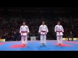 male team kata and bunkai final - japan (unsu) vs italy (gankaku)